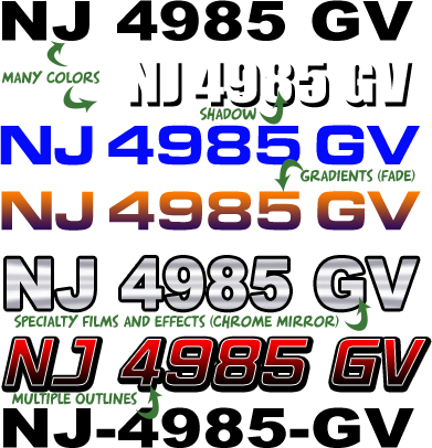 New Jersey Boat Registration Numbers Nj Lettering