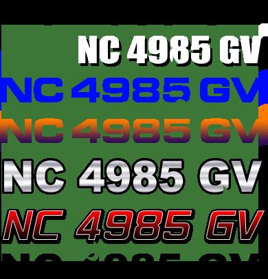 North Carolina Boat Registration Numbers Nc Lettering