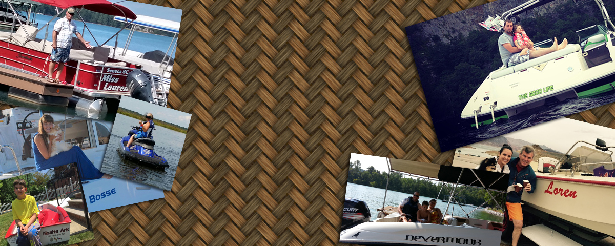 Custom boat decals and lettering